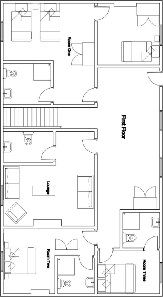 Chalet Mila 1st floor plan