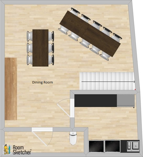 Chalet Garibaldy Dining Room Plan