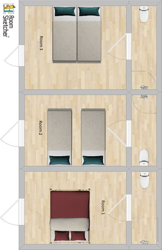 Chalet Garibaldy Room 1, 2 and 3 Plan